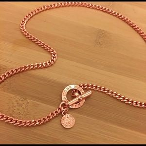 NWT Marc by Marc Jacobs Rose Gold Toggle Necklace